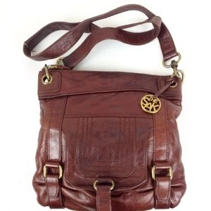 The Sak Leather Saddlebag Crossbody/Clutch - B13 @